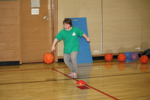 Mary Dribbles Basketball