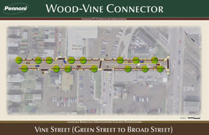 New Wood-Vine Connector Signals Bring Pedestrian Crossing to Main and Susquehanna, photo 1