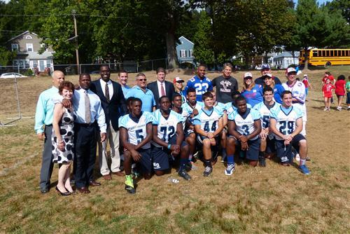 Giants and Falcons Football Stars Visit Gregory Elementary School