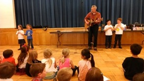 Jim Farrell Sings with Holy Trinity Preschool and Kindergarten Children, photo 1