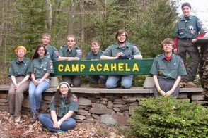 Venture Crew 276 Photo at Camp Acahela entrance
