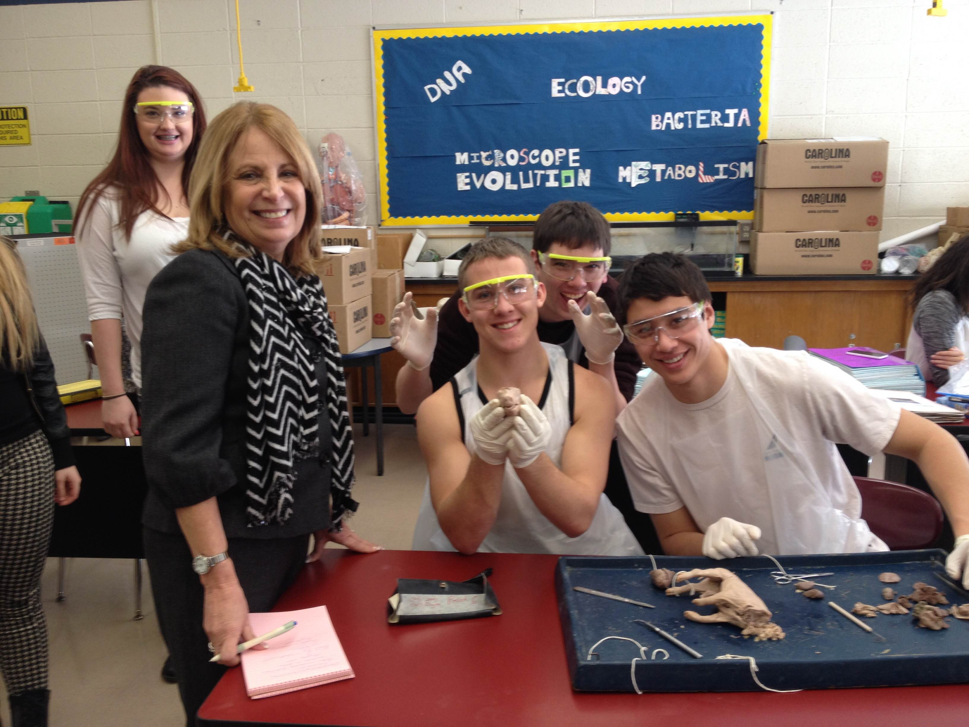 Superintendent Visits High School Anatomy Class - TAPInto