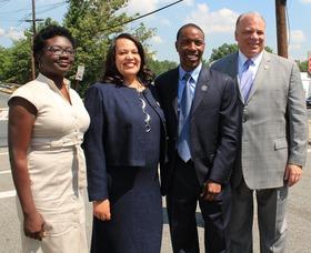 Senate President Steve Sweeney Visits Roselle Bridge to Address NJ Infrastructure, photo 1