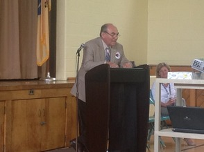 Sussex County Freeholder Director Rich Vohden addresses the students.