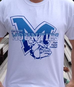 Montclair Mounties' Supporters Prepare for First Home Football Game with White-Out Shirt Campaign, photo 1
