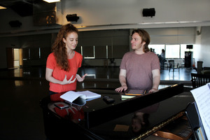 Carousel image e05a61f9eff1c418279f lily davis and chris beard in rehearsal