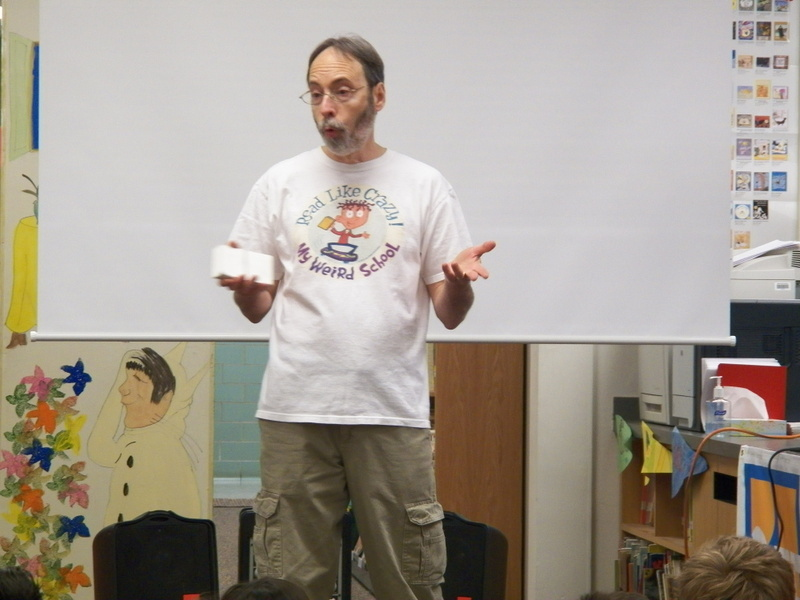 Children's Book Author Gutman Talks with Summit Students About Writing, Reading, and Never Giving Up