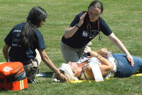 Students Learn EMS Procedures in Mass Casualty Drill, photo 17