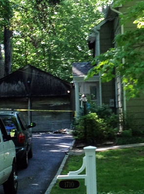 Fire started in detached garage