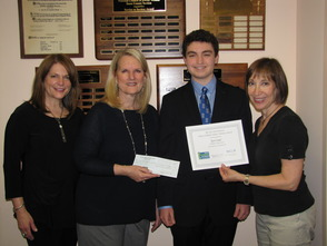 (l to r): Kaye Freireich, Eskow Award Co-Chair, Nancy Eskow, Ryan Siegel and Linda Jacobs, Eskow Award Co-Chair.