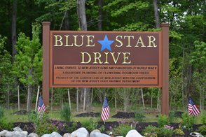 Blue Star Memorial Drive Sign