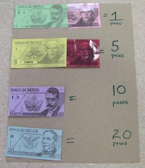 """Samples of """"pesos"""""""