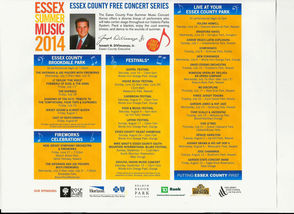 Essex County Music Series Schedule
