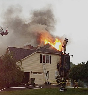Firefighters Battle Montgomery Township Blaze Wednesday