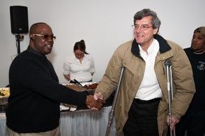 Sean Walker and Mayor DeLuca