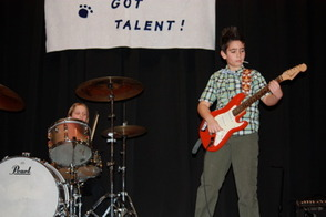4th graders Copeland Culp and Nico Cosereanu played The Lolipop Song