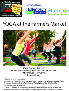YOGA at the Farmers Market!!!