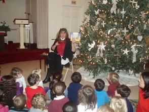 Pastor Reads Christmas Story to Preschool