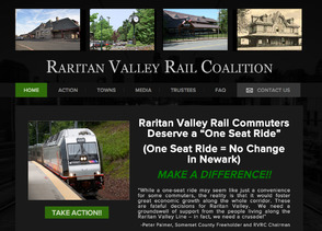 Raritan Valley Rail Coalition Launches New Website to Support 'One-Seat Ride' Campaign, photo 1