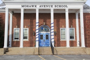 Mohawk Avenue School Dressed for Winter