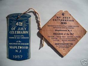 1957 & 1945 July 4th ID Tags