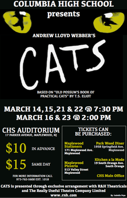 "Columbia High School to Present the Musical ""CATS"", photo 1"