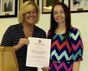 Mayor Colleen Mahr and Kelsey O'Connor