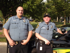 Officers Joe Parlapiano and Michael Hand