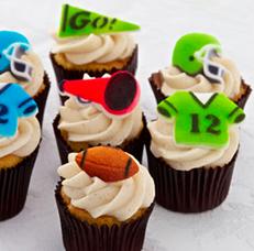 Super Bowl Cupcakes at Gigi's