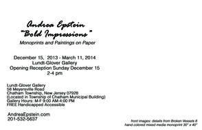 "Andrea Epstein's ""Bold Impressions"" Show To Open December 15, photo 3"