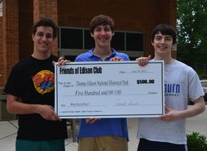 Millburn HS Edison Club Raises $500