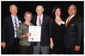 Coalition honoree Charlie Bibbins Fred Profeta, Assemblywoman Mila Jasey, Nancy Gagnier, & Anthony Greene