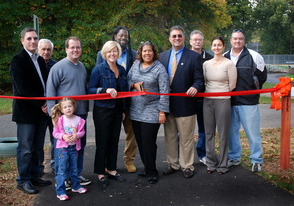 Ribbon-Cutting Marks New Fitness Trail at Forest Road Park, photo 1