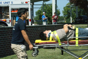 Students Learn EMS Procedures in Mass Casualty Drill, photo 15