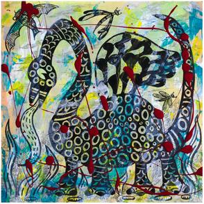 """""""Tormented Dragon"""" by South Orange artist, Ann Vollum"""