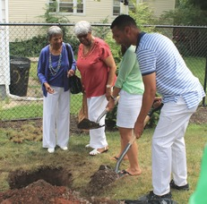 Roselle Community Joins Dr. Polk Family and Plants Time Capsule, photo 26