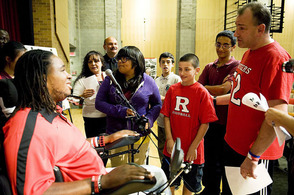 Eric LeGrand visited MS7 in Jersey City