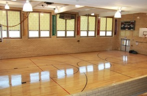 Gym Floor has a shiny finish