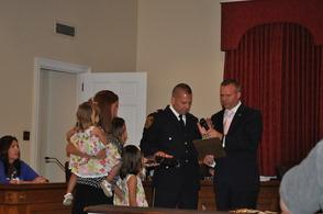 police sworn in