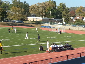 Montclair's Goalie Prevents a Potential Goal by Millburn