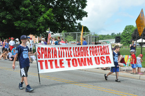 Sparta Little League Football participated at the festivities.