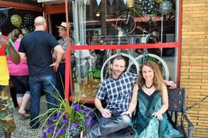 Owners of Pedal Montclair, Louis and Andrea Cederberg