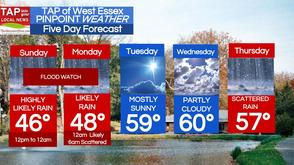 Flood Watch Continues Sunday; West Essex Area Weather for Mar. 30, photo 1