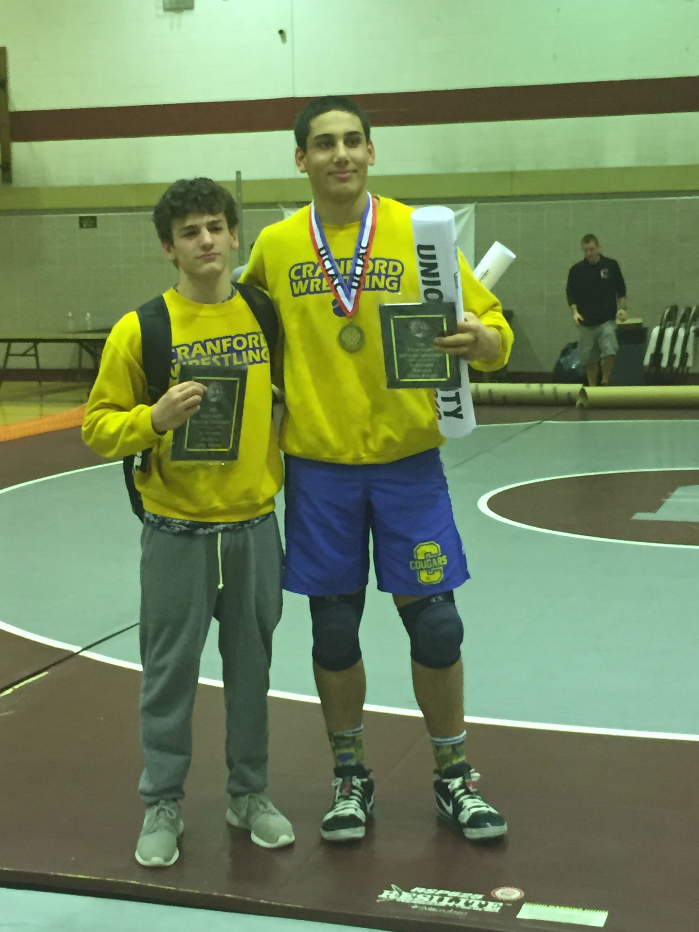New jersey union county cranford - Outstanding Wrestling Awards Upper And Lower L Anthony Capece And R Alex Esposito Credits K Capece