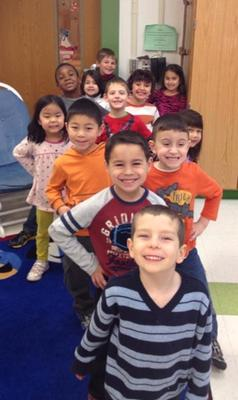 Westfield Area Y Kindergarten Wraparound students getting ready for their next activity.