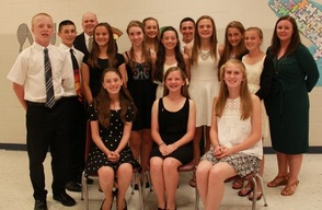 Members of the National Junior Honor Society 2014