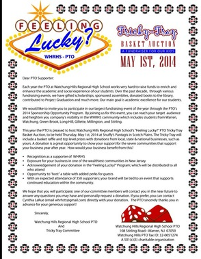 Feeling Lucky? Watchung Hills Regional High School PTO Hosting Auction May 1, photo 2