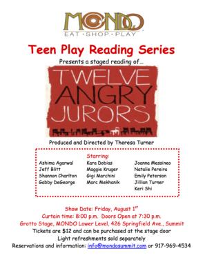 12 Angry Jurors - Poster
