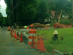 Ridge High School's New Driveway