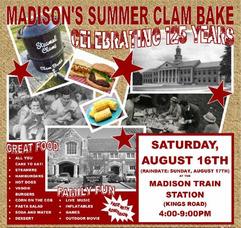 Madison Summer Clam Bake Set for Aug. 16, photo 1